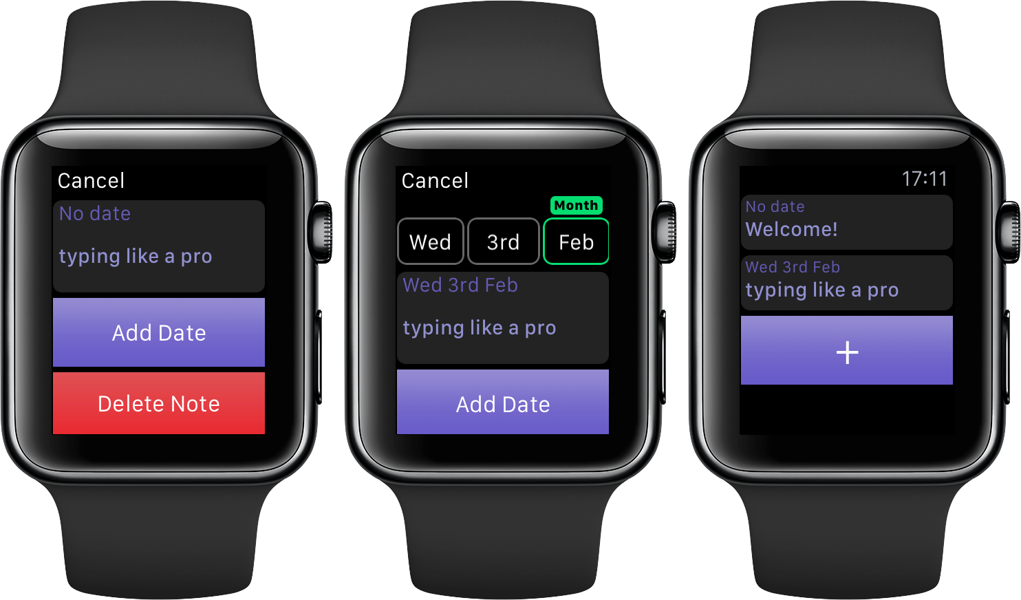 Note Tapper for watchOS Apple Watch screenshot 003