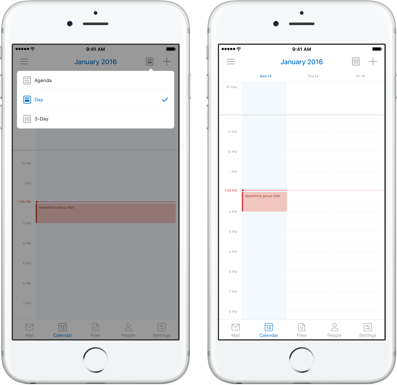 Outlook for iOS 3-day view 001