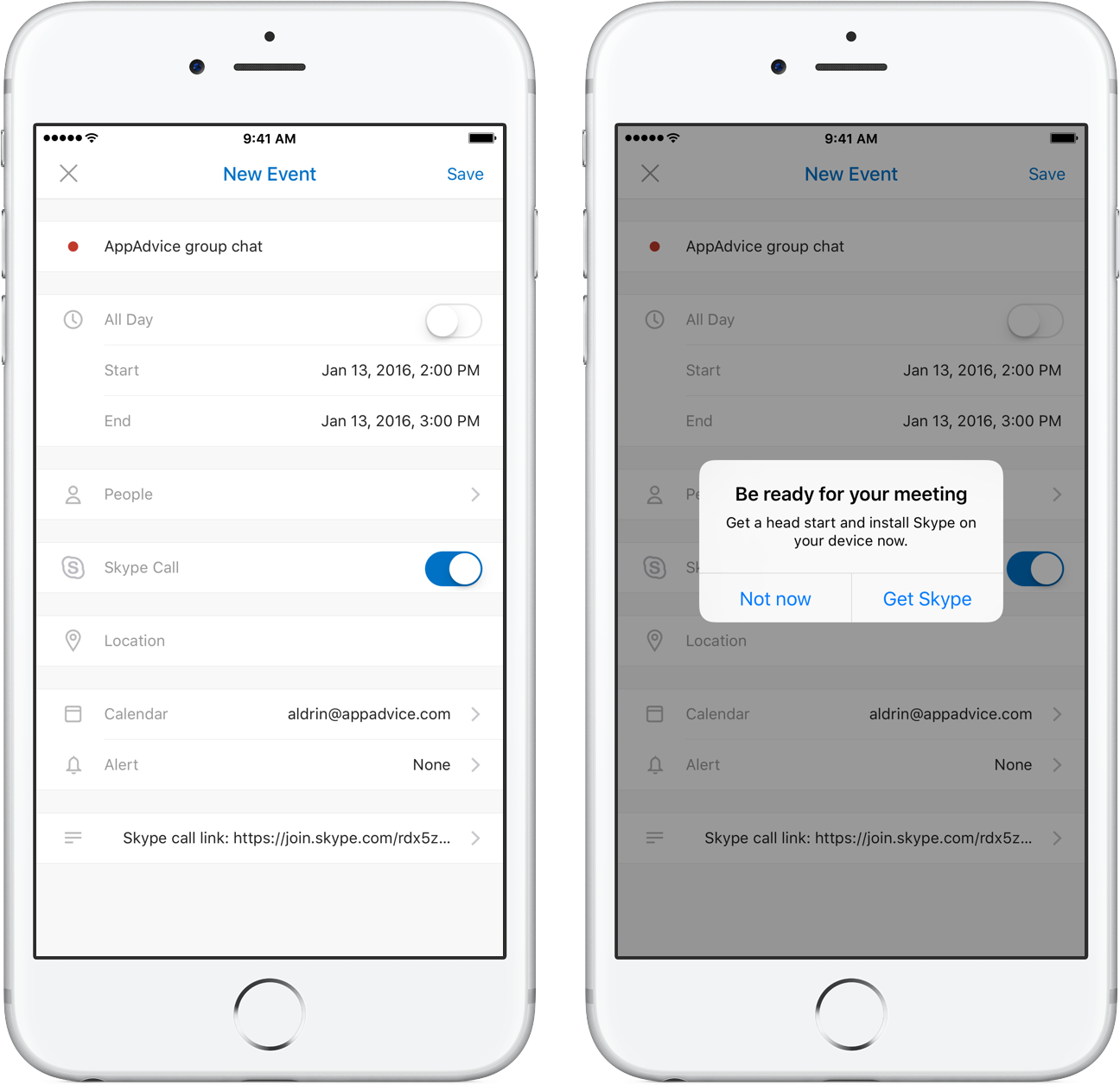 Outlook for iOS Skype intergration teaser 001