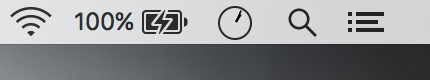 Mac menu bar analog clock