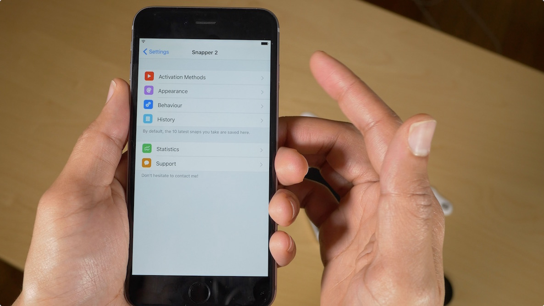 Snapper 2: an awesome screenshot tool for jailbroken iPhones