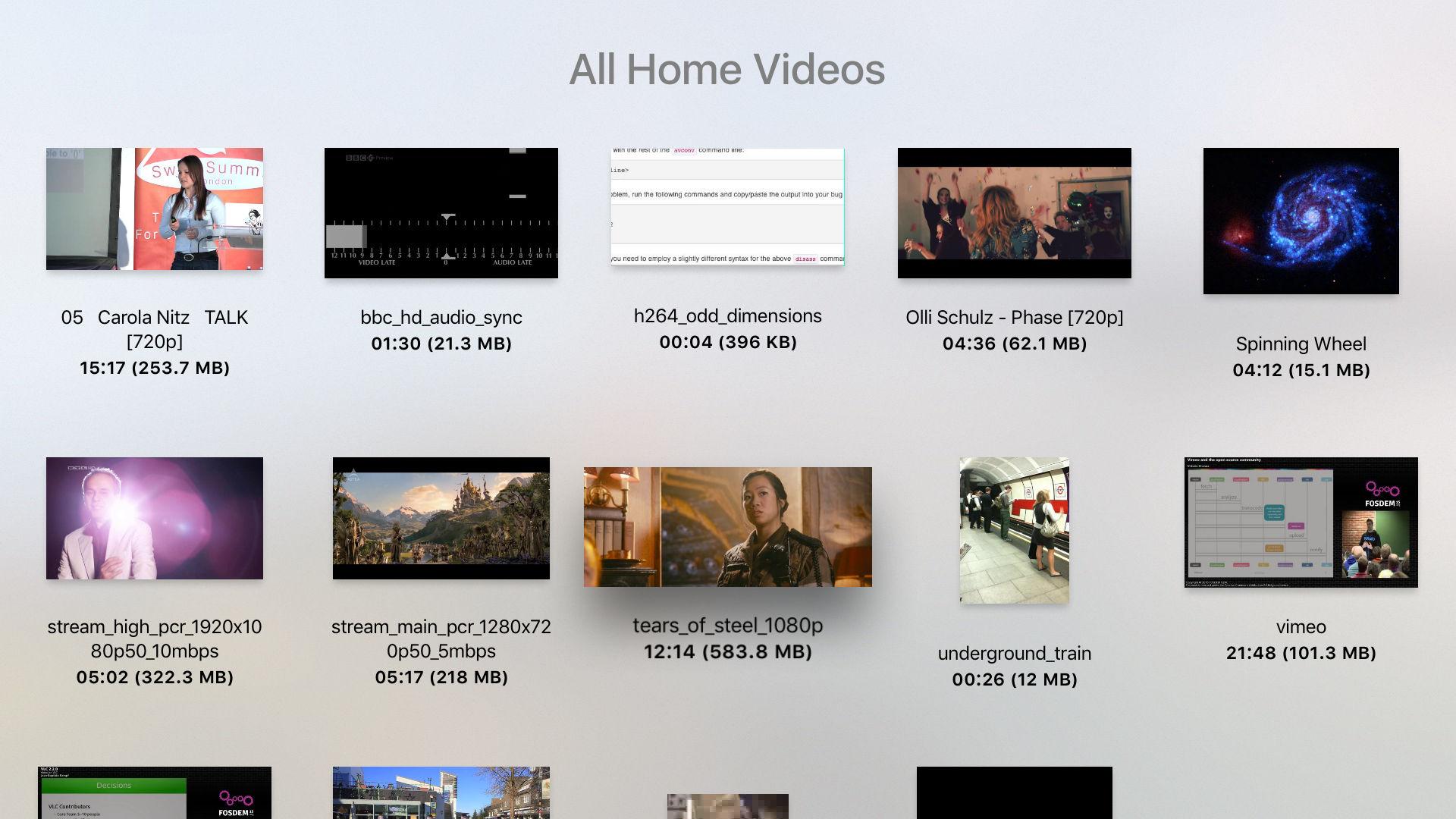 VLC for Apple TV tvOS screenshot 001