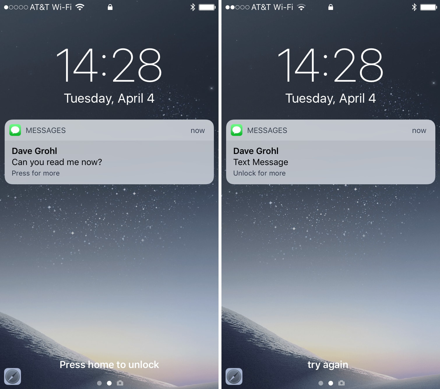 How to hide text messages & email notification previews from the Lock screen