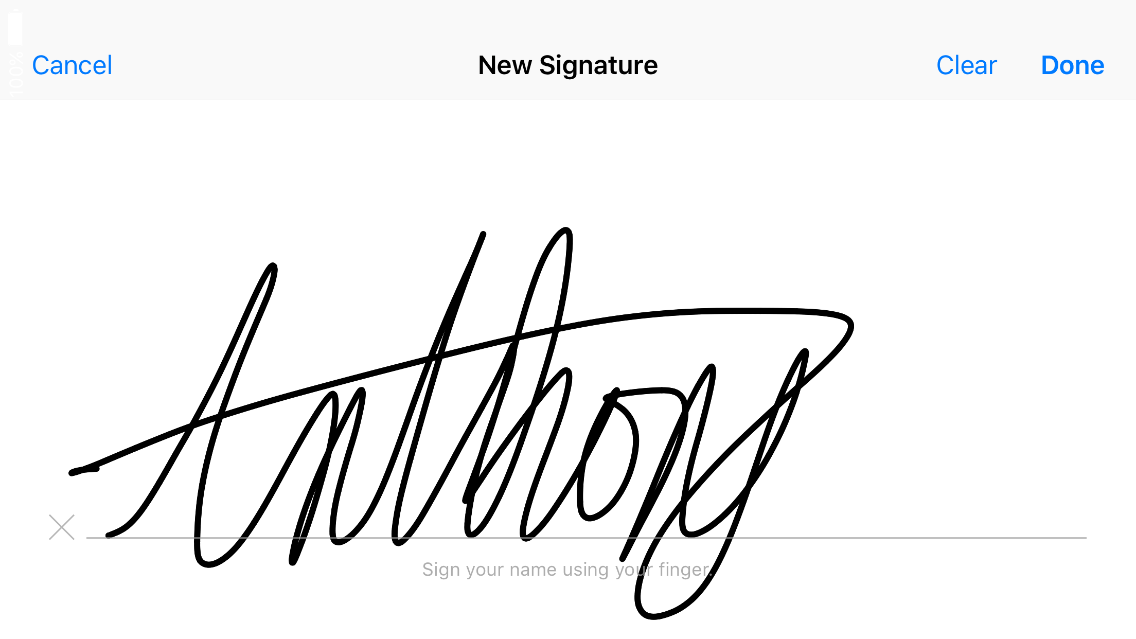 how to markup in mail for ios signature