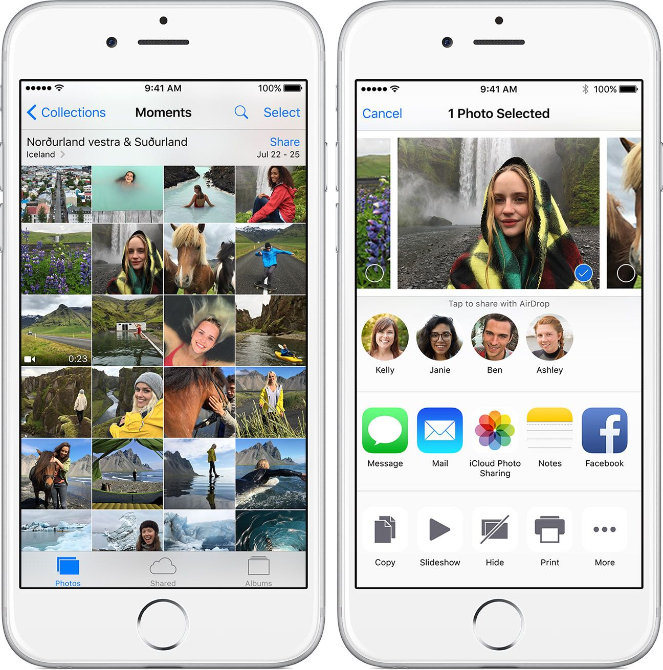 iOS 9 AirDrop Photos app iPhone screenshot 009