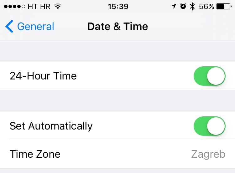 iOS 9 Date and Time iPhone screenshot 001