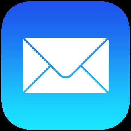 Ícono de la aplicación iOS 9 Mail a tamaño completo