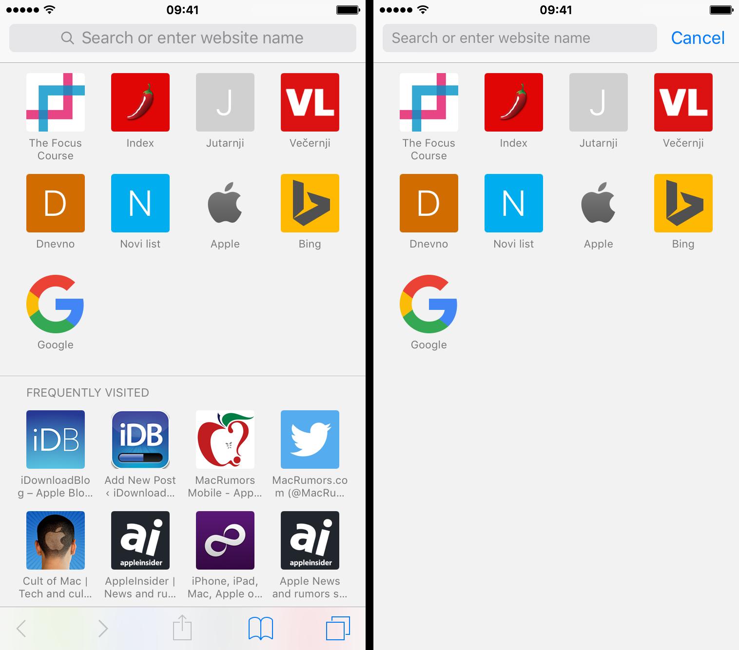 Ocultar Safari visitando iPhosites con frecuencia en iPhone