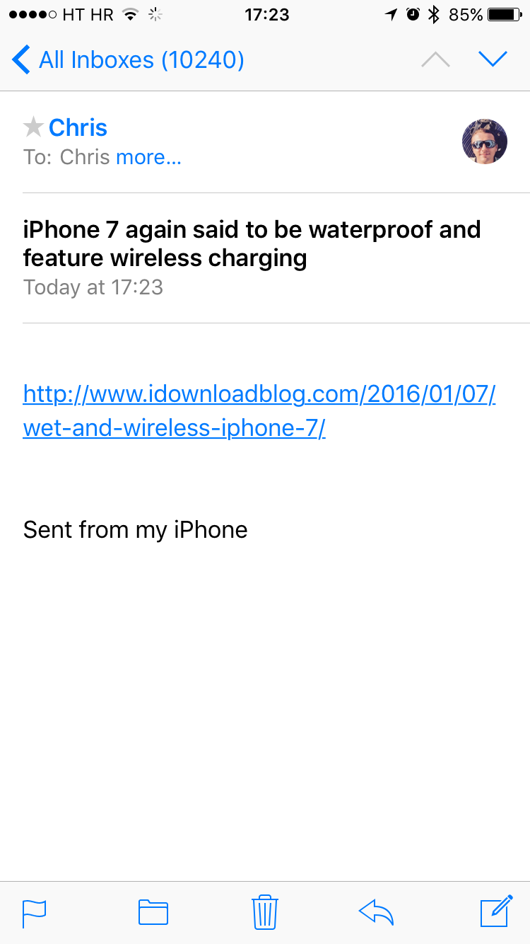 iOS 9 Safari how to email article iPhone screenshot 004