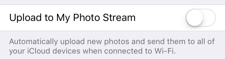 iOS 9 Turn off My Photo Stream iPhone screenshot 001