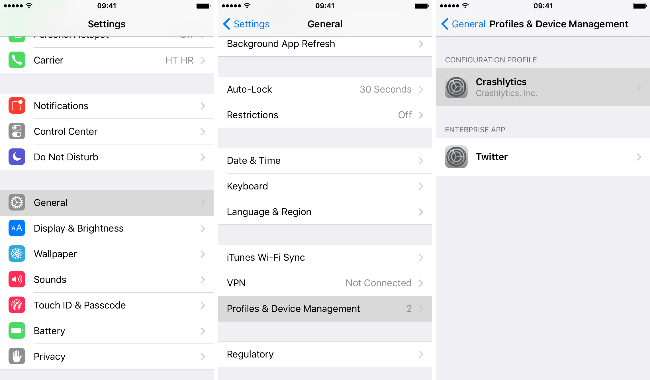 How to remove iOS configuration profiles