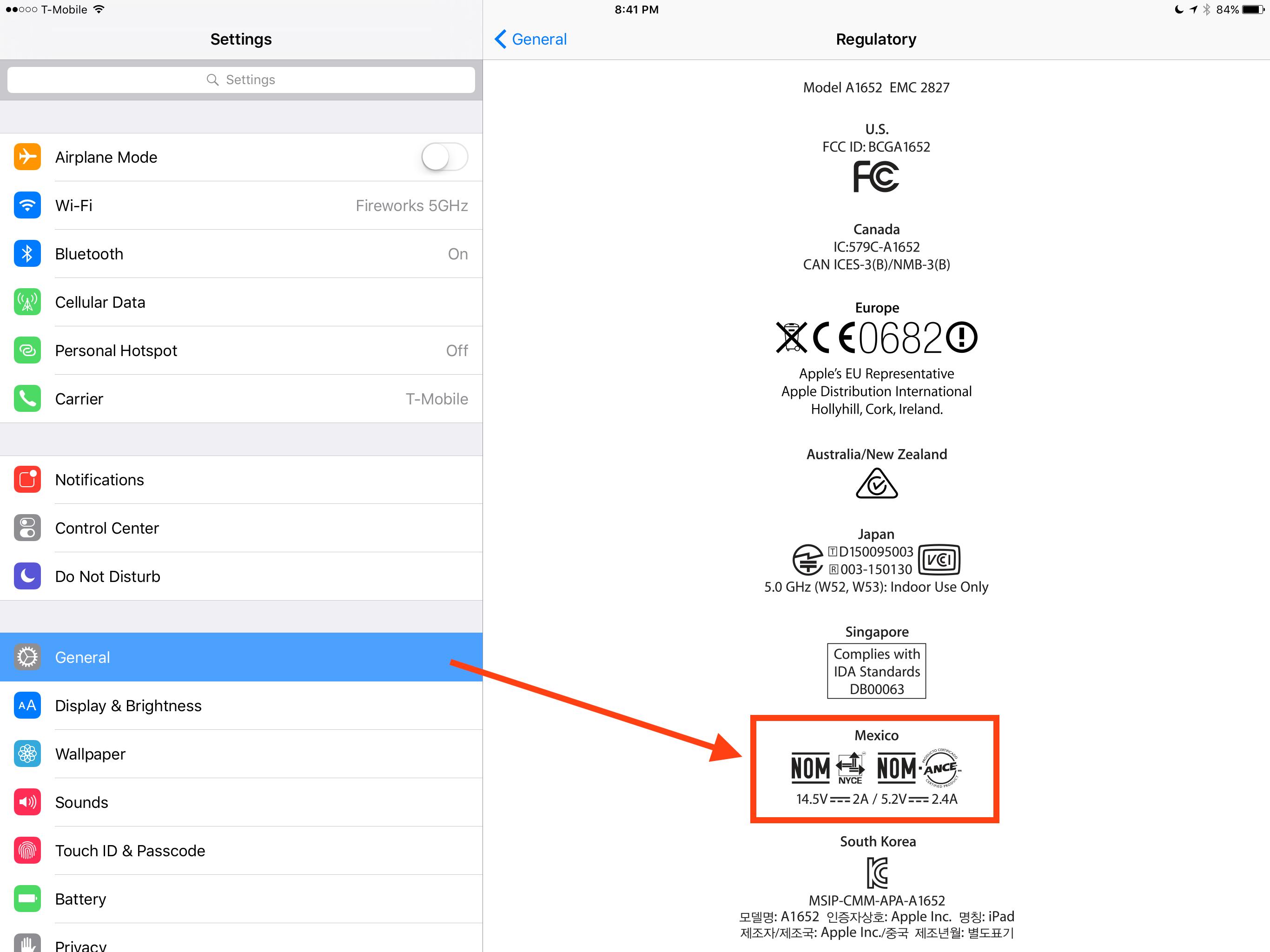 iPad Pro Regulatory