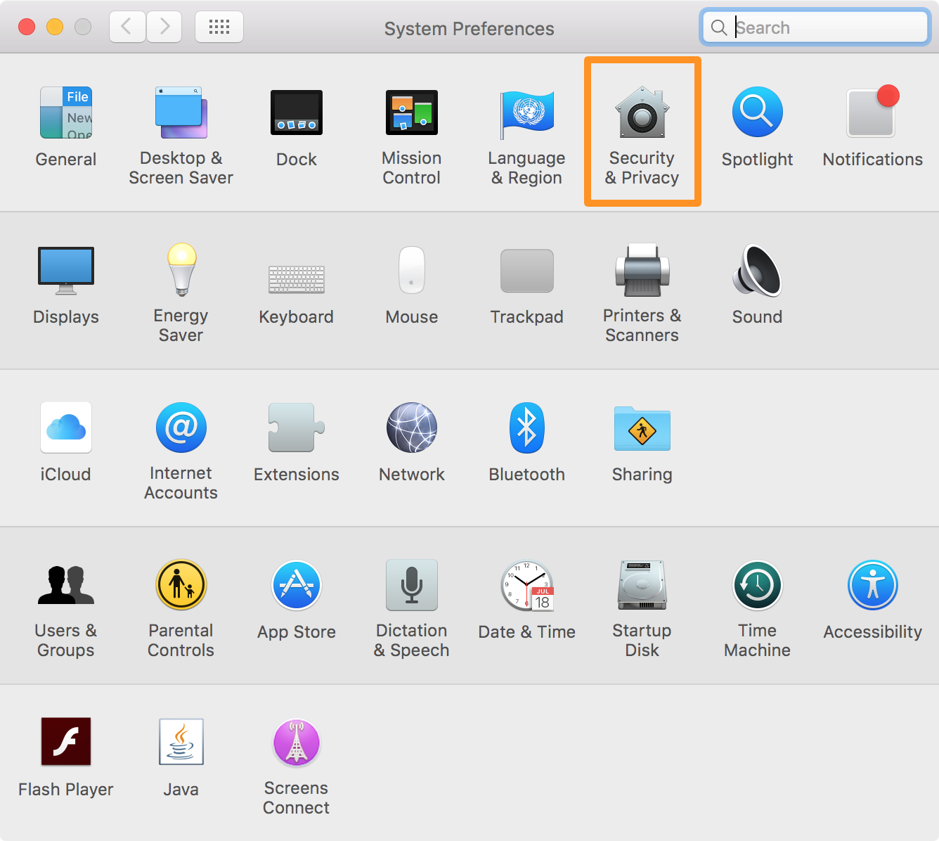 mac location services - Mac Security and Privacy system preferences