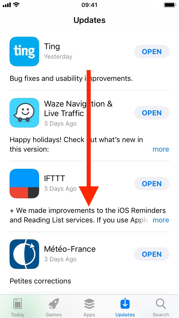 App Store acting up and not showing updates correctly? Try this