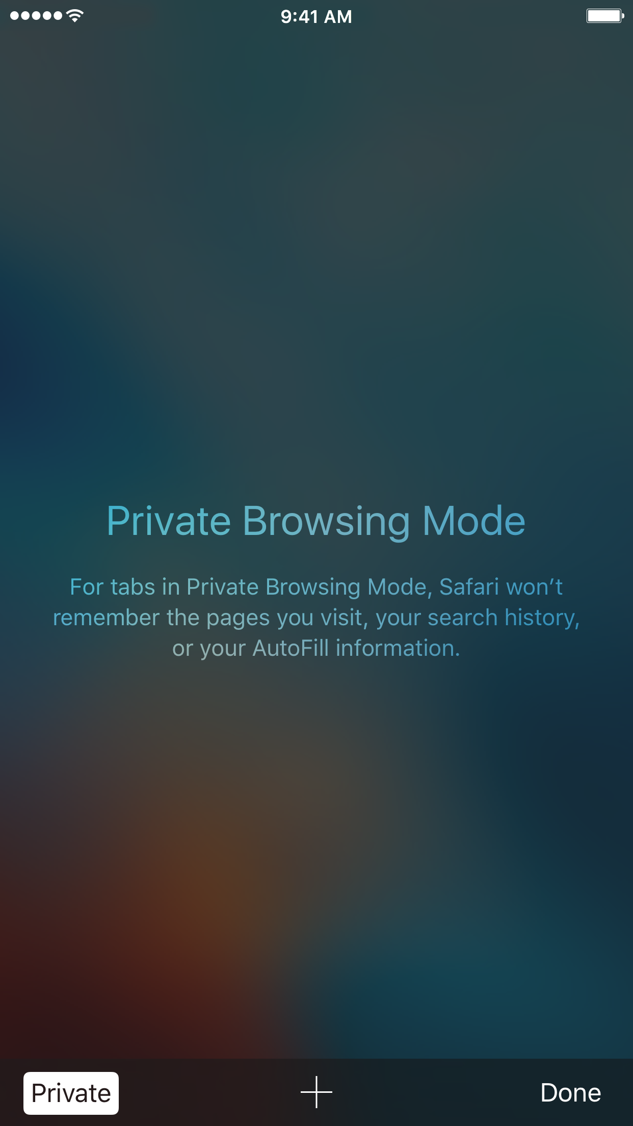 safari private browsing mode