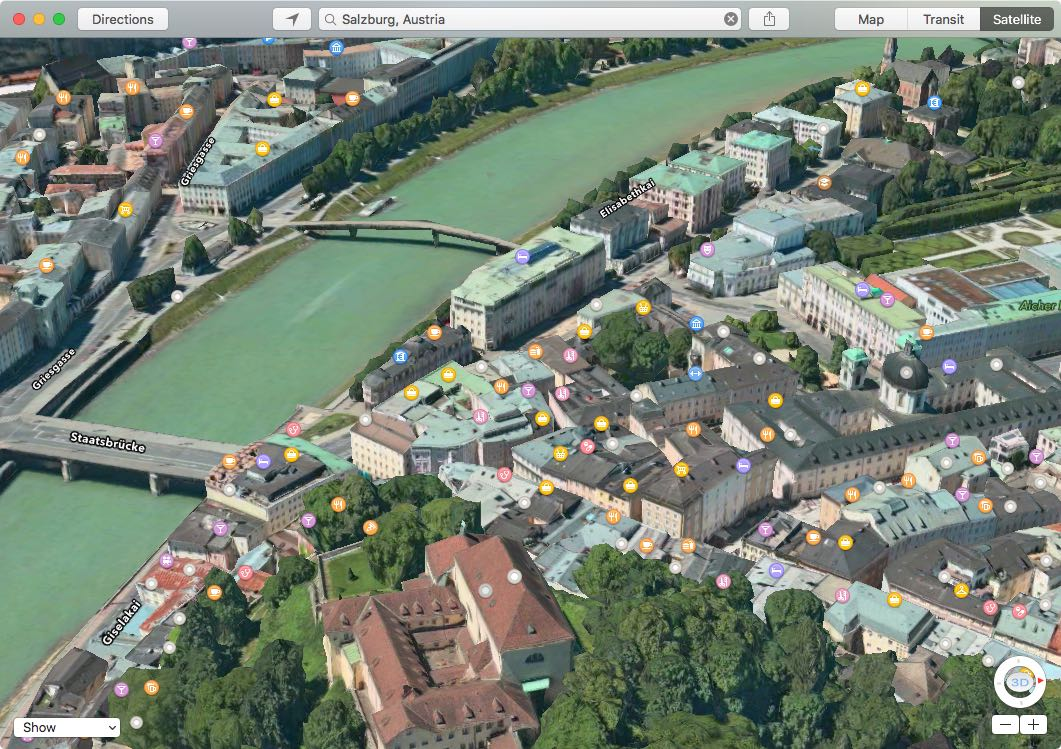 Apple Maps Flyover Salzburg Austria Mac screenshot 001