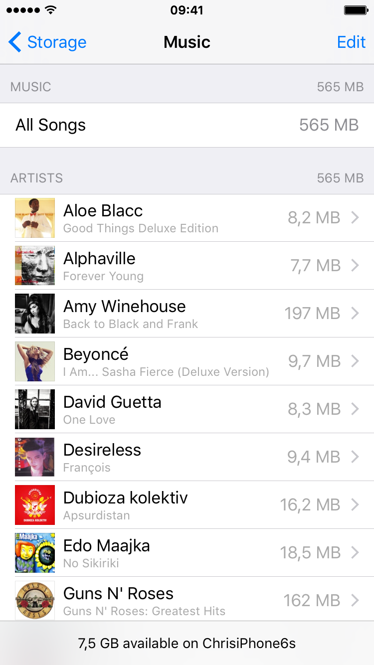 Apple Music remove offline song iPhone 6s screenshot 002
