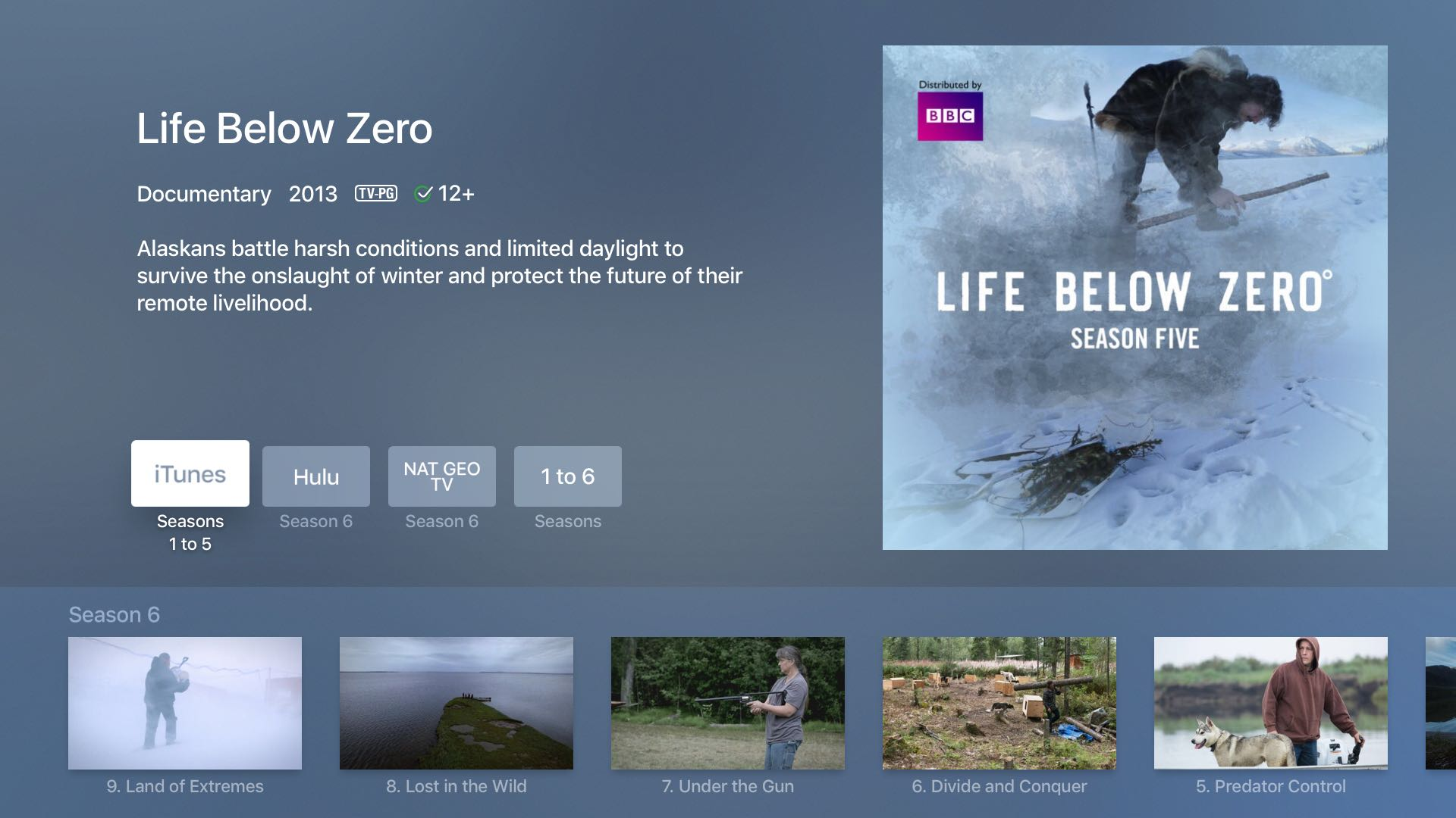 Apple TV 4 Universal Search Nat Geo TV tvOS screenshot 001