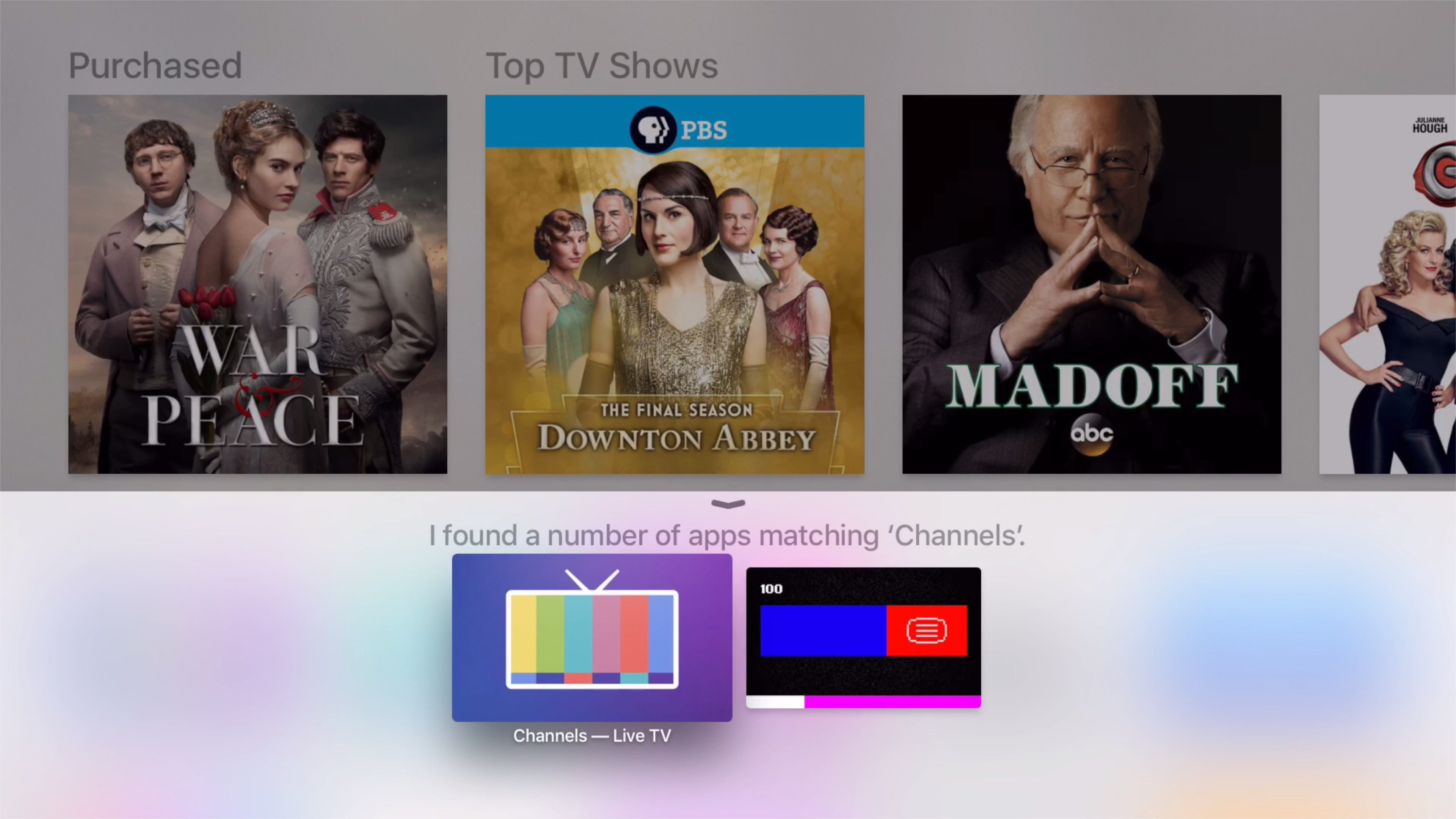 Apple TV App Store Search Siri