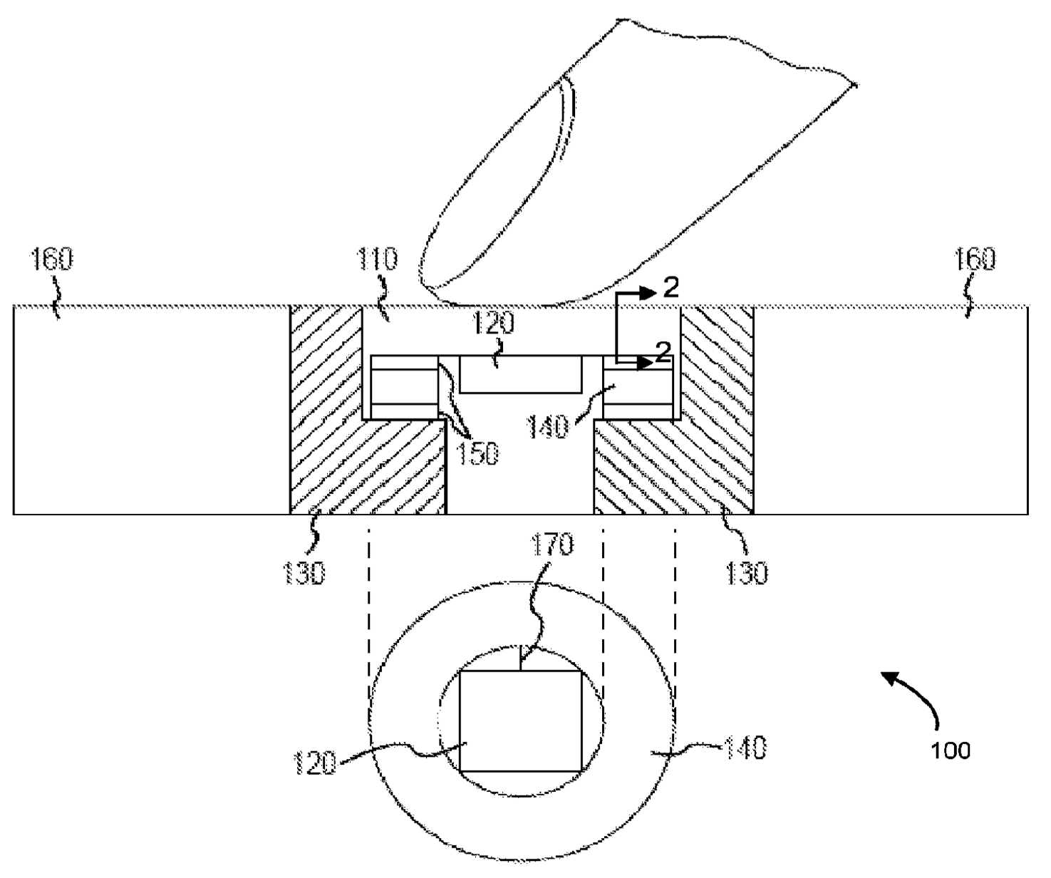 Apple patent force sensing Touch ID drawing 002