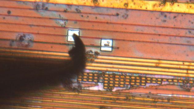 Chip probe hit