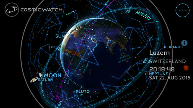 Cosmic-Watch for iOS iPhone screenshot 002