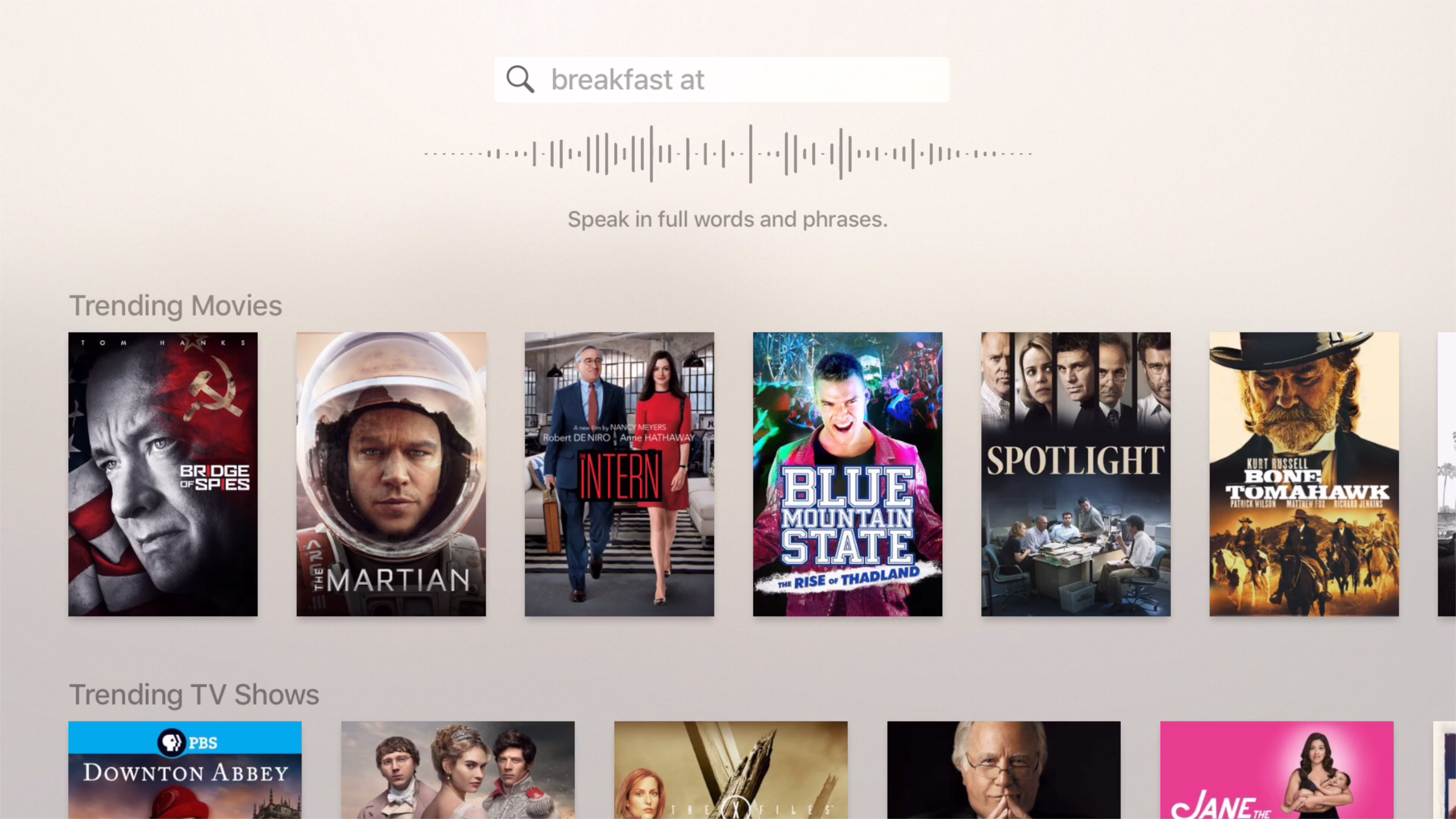 Dictation Apple TV 9.2 beta 3
