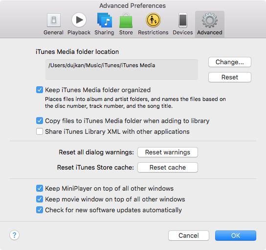 Consolidating itunes library mac