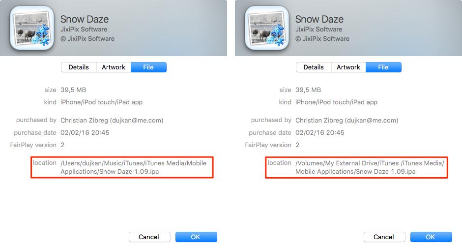 Cómo mover la biblioteca de iTunes a un disco externo Mac