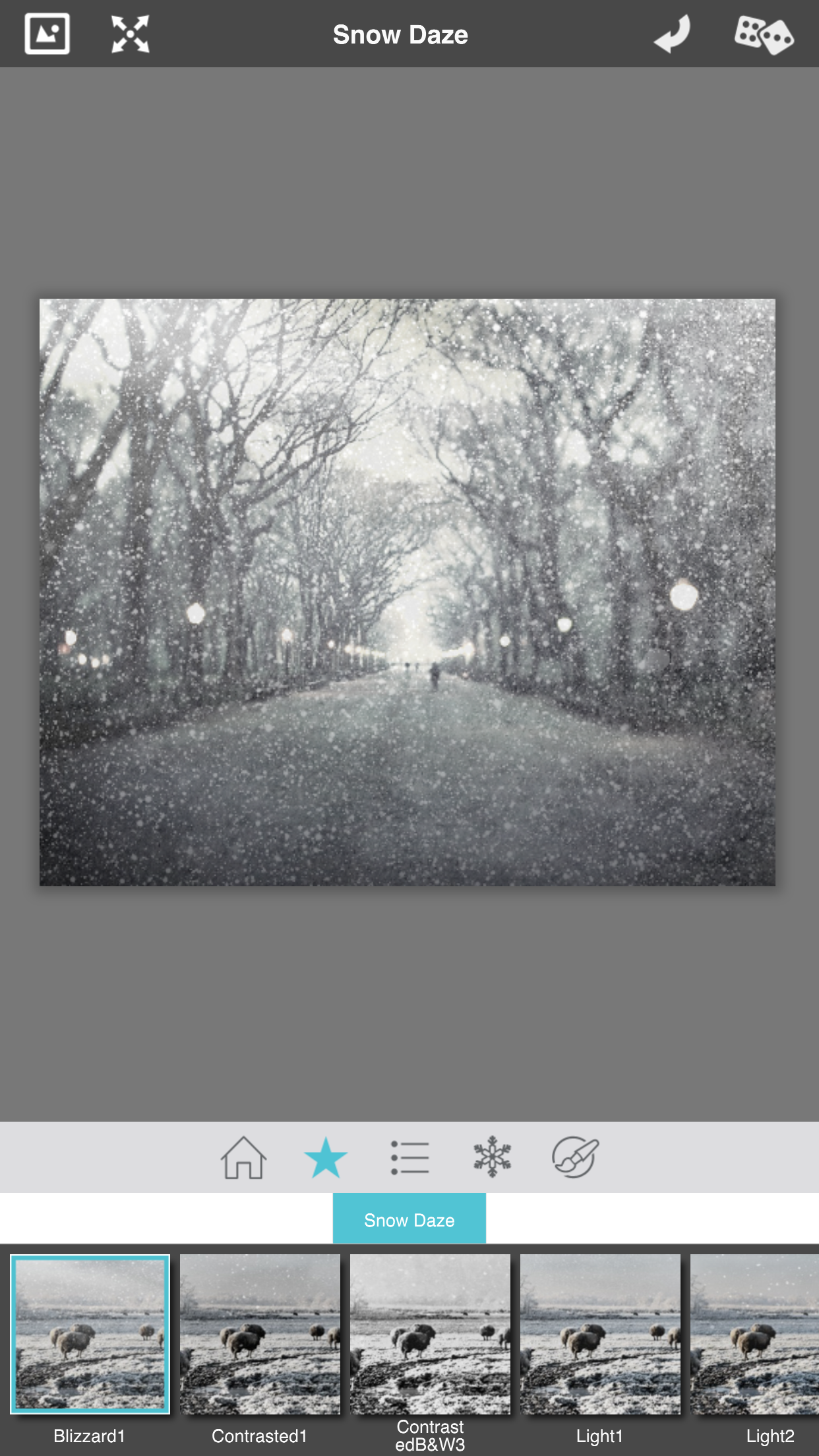 add snow to photographs with snow daze presets