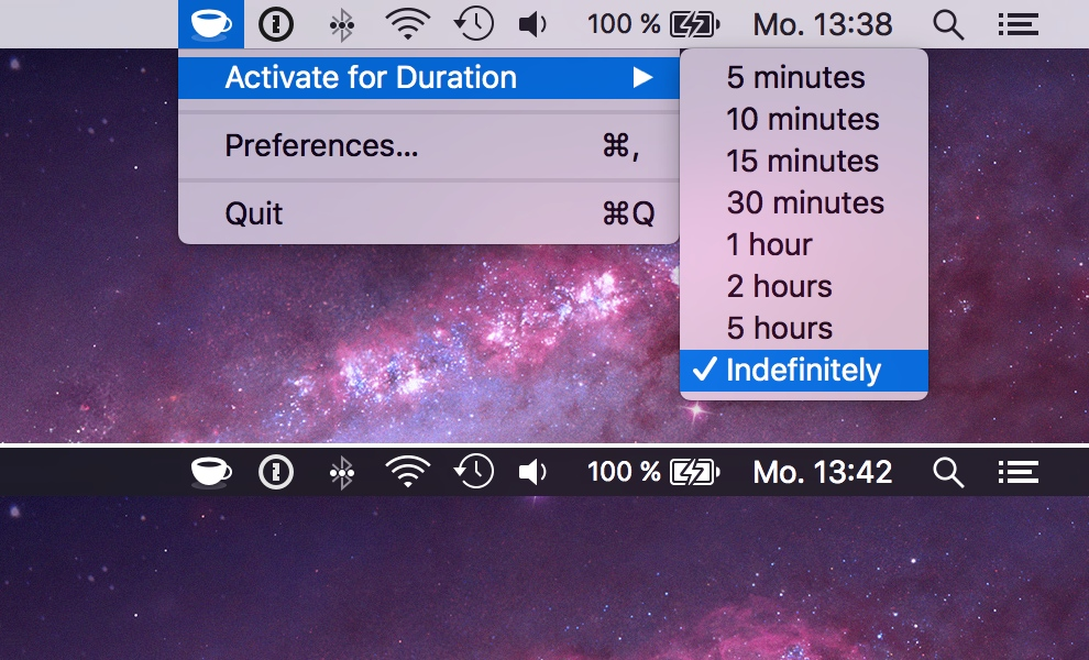 KeepingYouAwake for OS X Mac screenshot 001