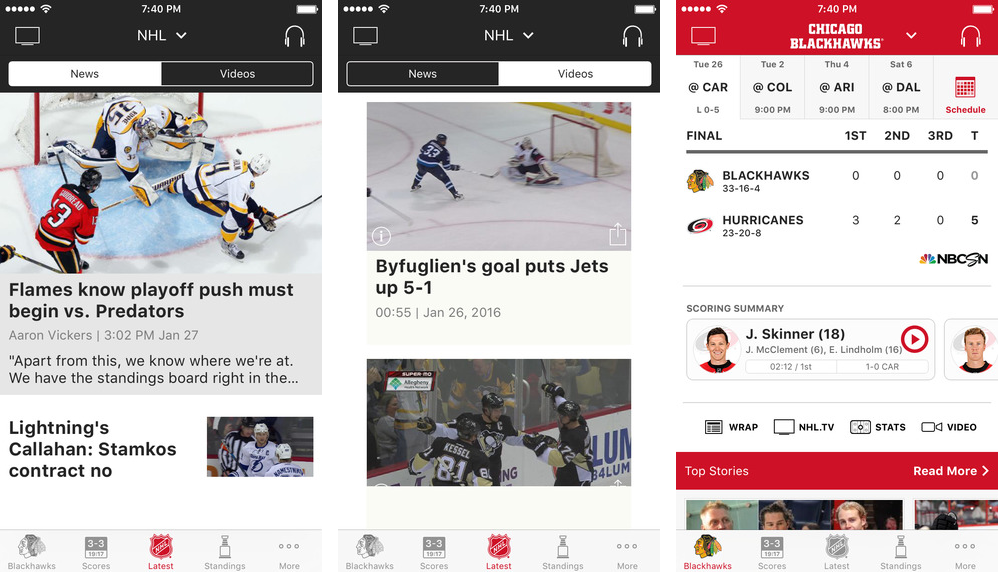 NHL 7.0 for iOS iPhone screenshot 001