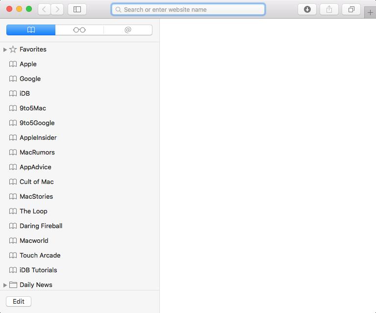 How to put bookmarks into folders safari
