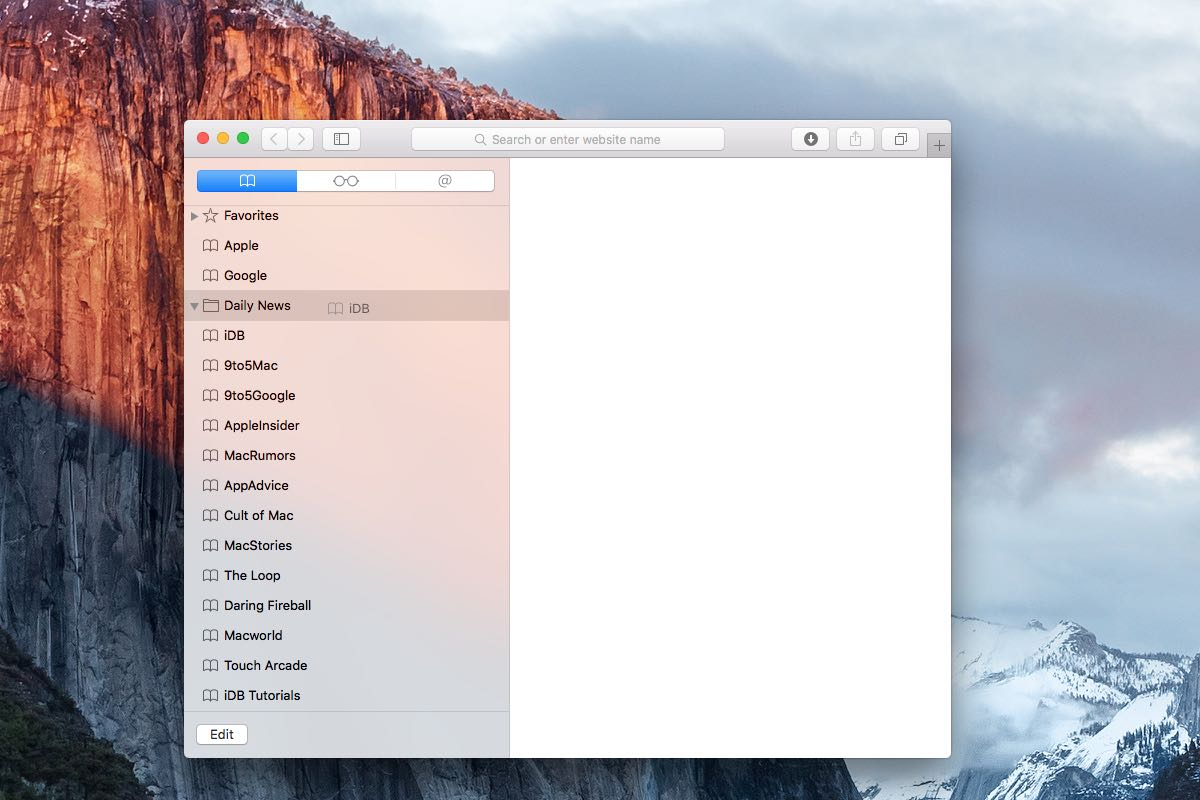 How to file bookmarks into folders Mac