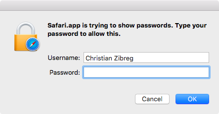 OS X El Capitan Safari view saved passwords Mac screenshot 001