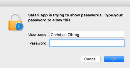 OS X El Capitan Safari view saved passwords Mac screenshot 001