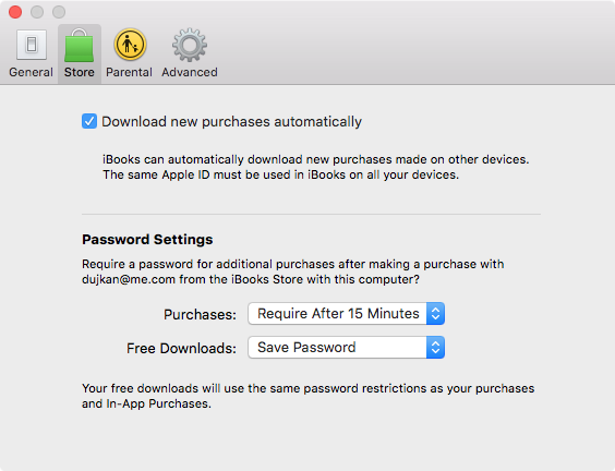 iBooks Download new purchases automatically on Mac