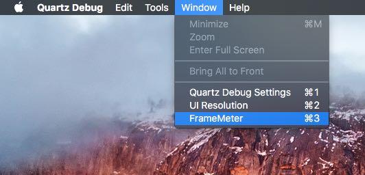 Quartz Debug Mac screenshot 003