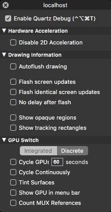 Quartz Debug Mac screenshot 008
