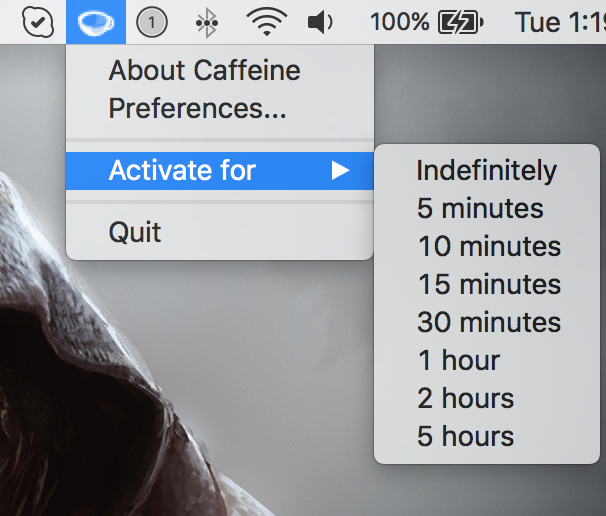 Here are two Caffeine alternatives for keeping your Mac awake