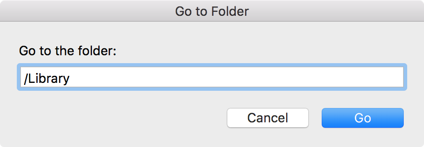 OS X go to folder library