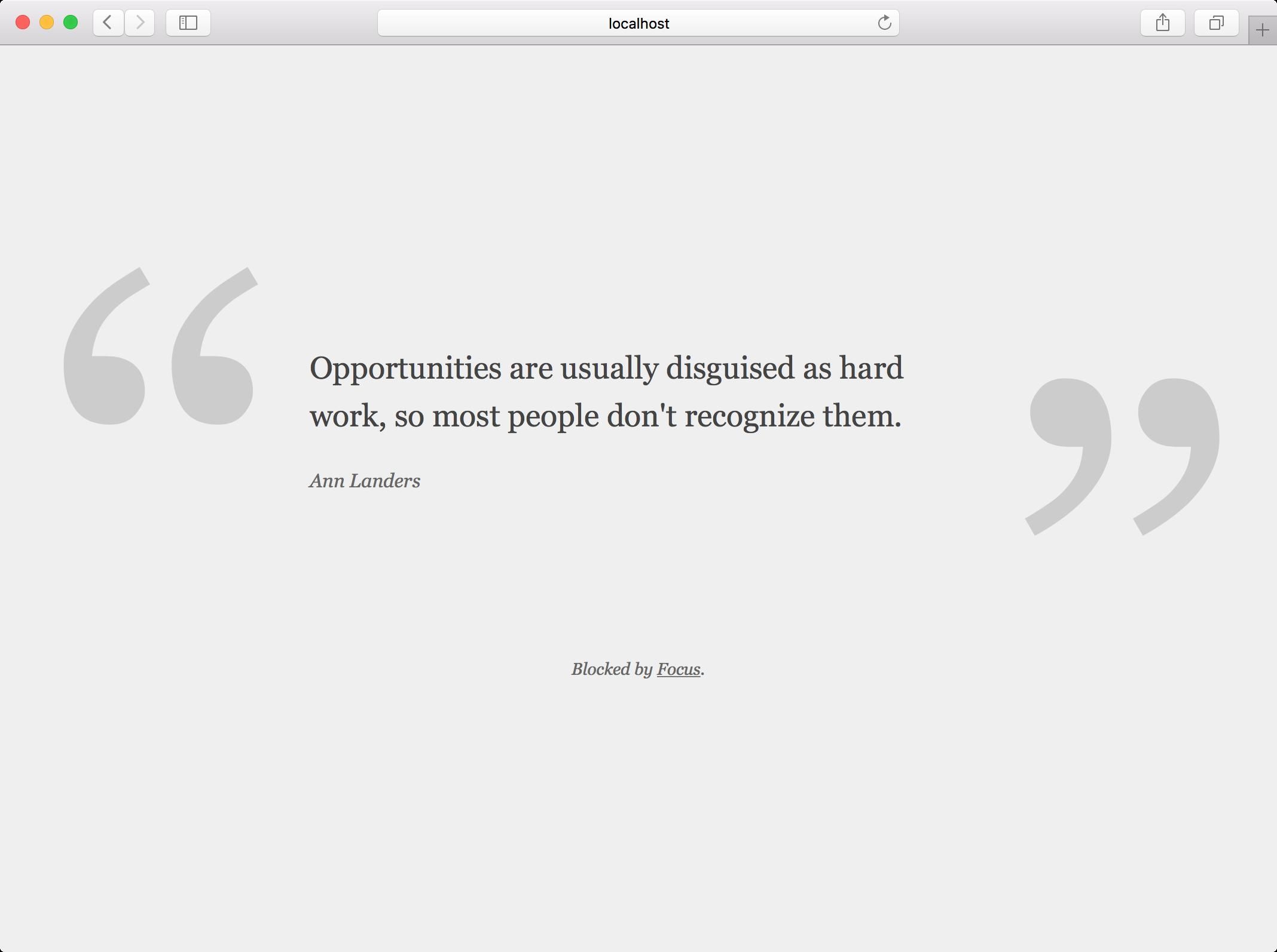 focus quote in safari app os x