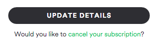 Spotify cancel subscription link