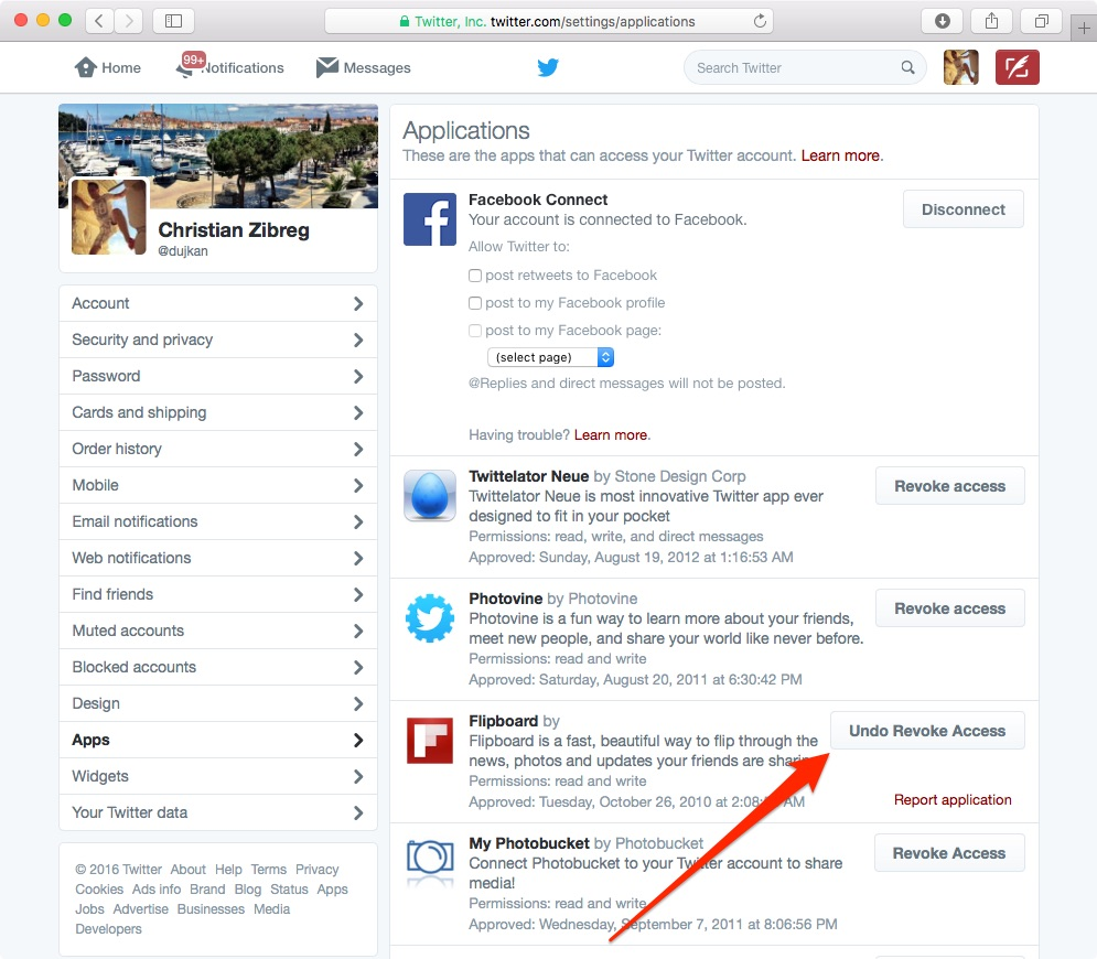 How to revoke access to apps you have connected to Twitter