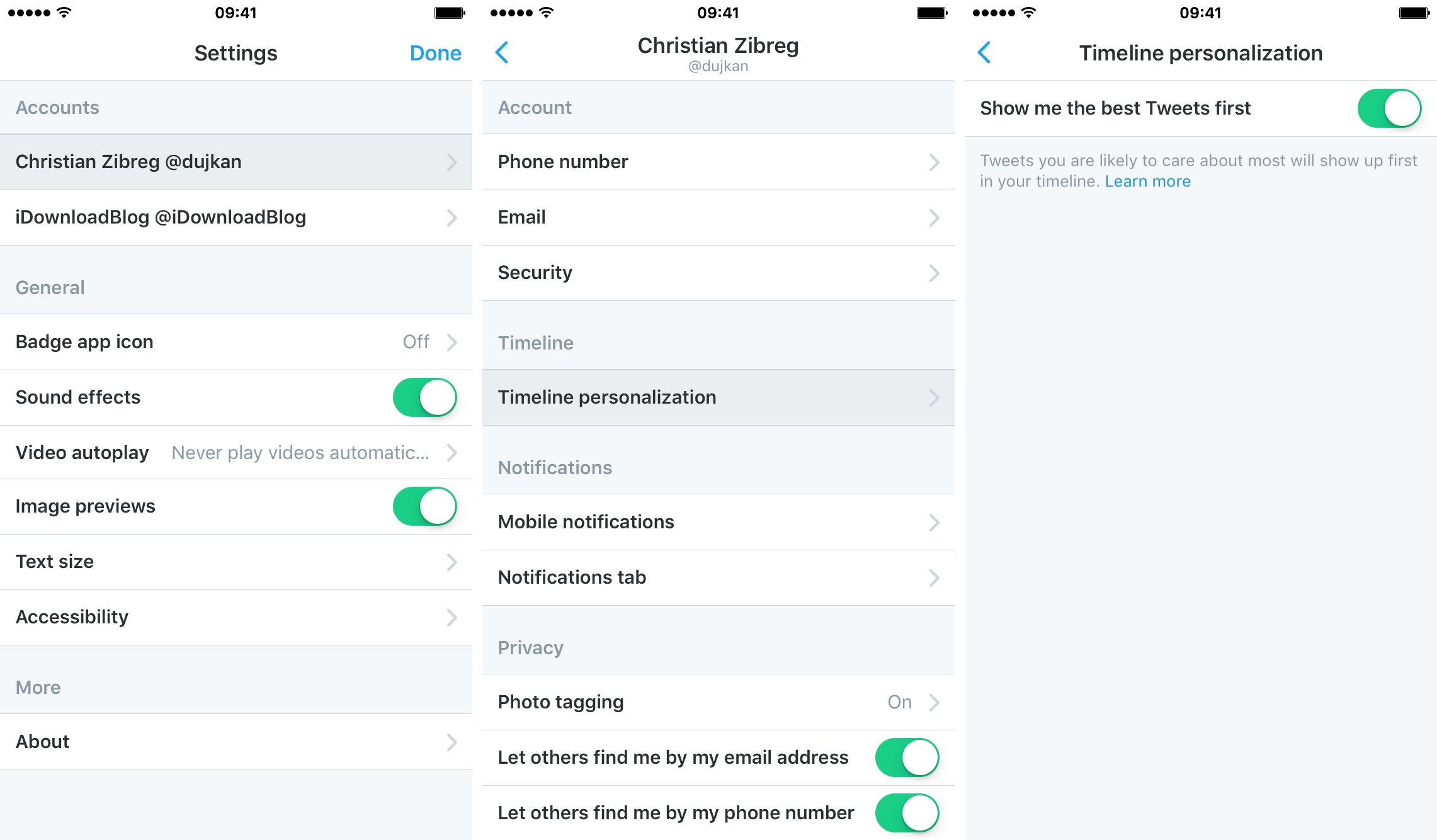 Twitter timeline personalization