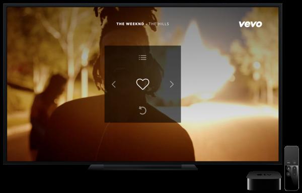 Captura de pantalla 001 de Vevo para Apple TV tvOS