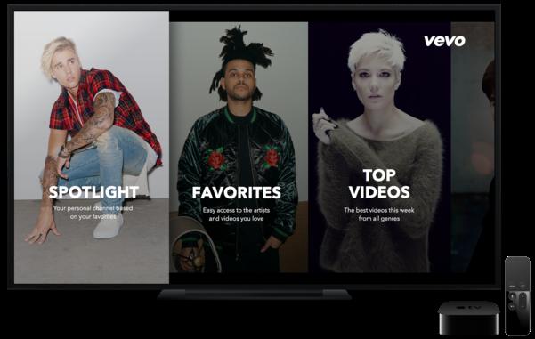 Captura de pantalla de Vevo para Apple TV tvOS 002