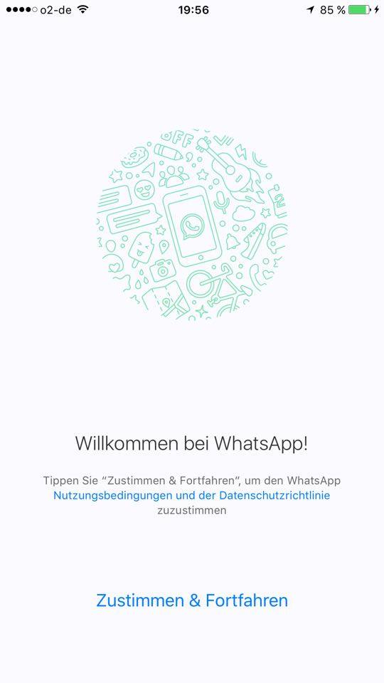 WhatsApp new Welcome screen