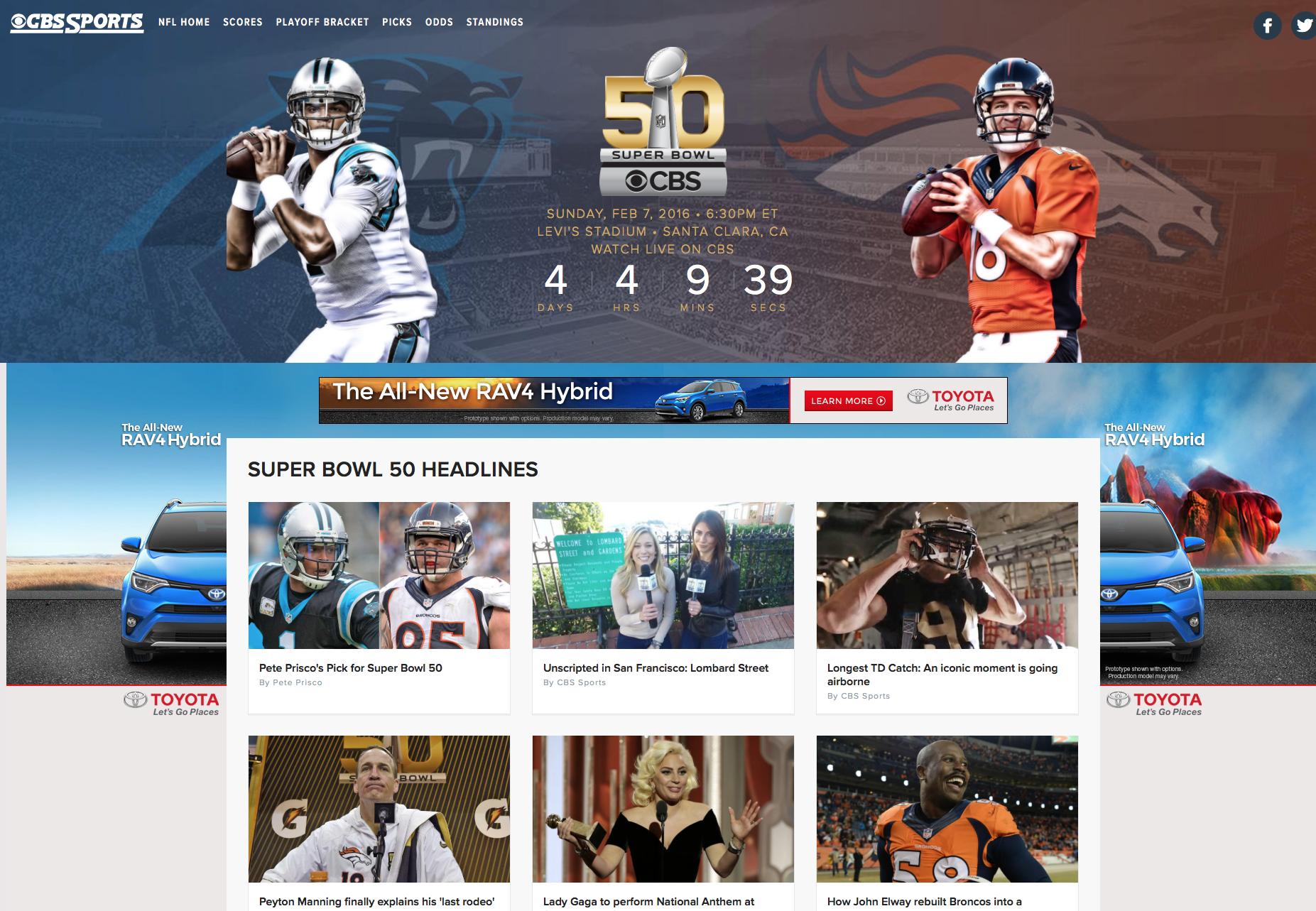 cbs sports web