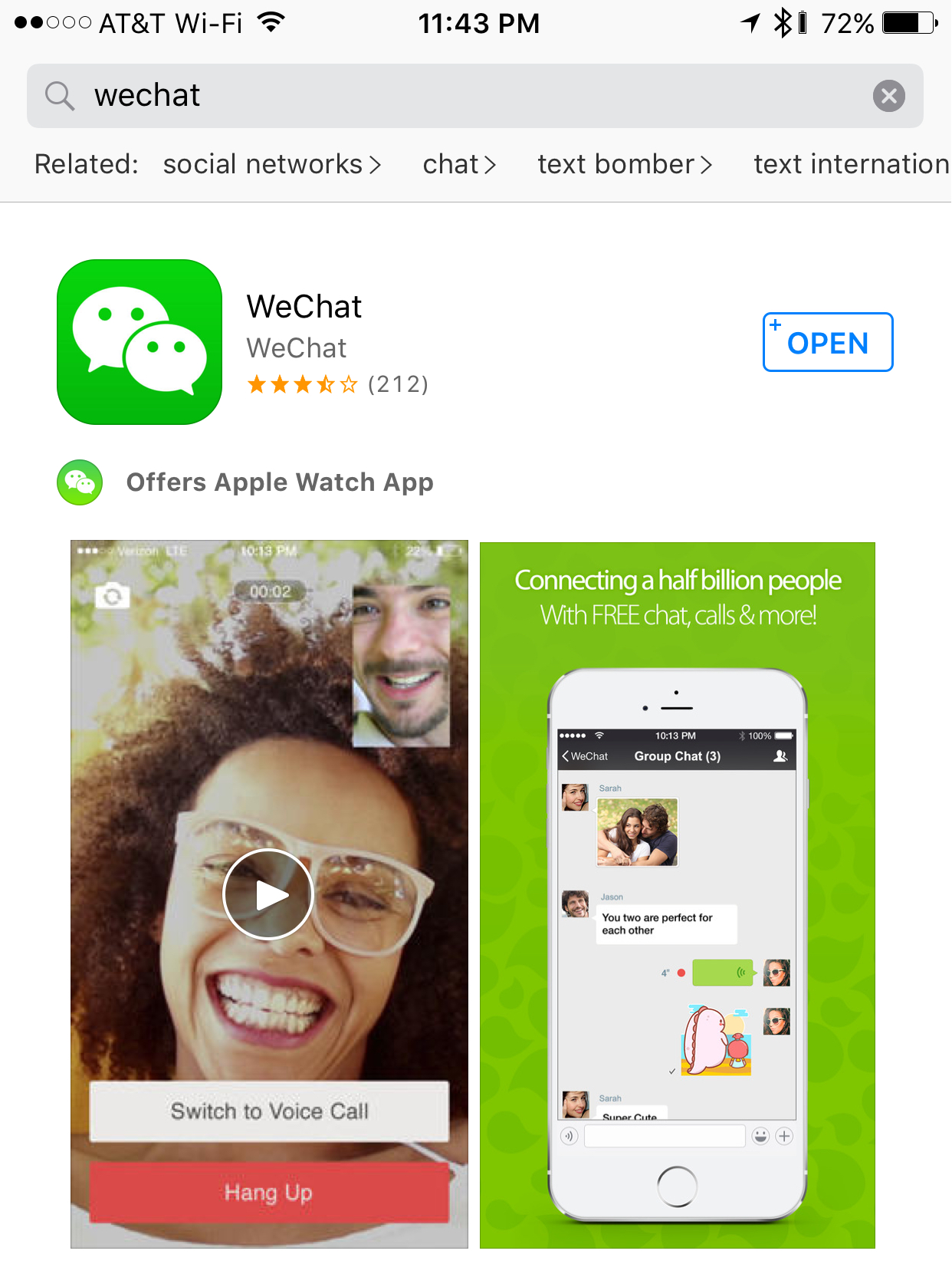 download wechat from app store